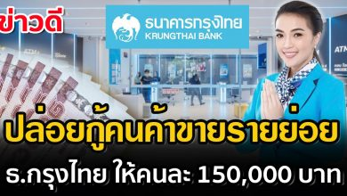 Photo of กรุงไทยใจดี ปล่อยกู้คนค้าขาย ให้ยืม 150,000 ไม่ต้องใช้หลักทรัพย์ค้ำประกัน