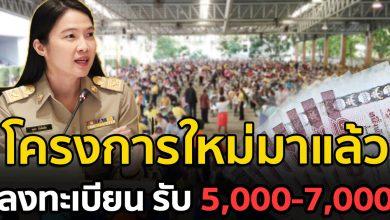 Photo of เเจ้งเงื่อนไข โครงการใหม่ รับ 5,000-7,000