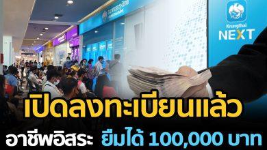 Photo of เปิดล งแล้ว กรุ งไท ยให้ยืม 100,000 อาชี พอิสร ะ รู้ผลใน 5 นาที