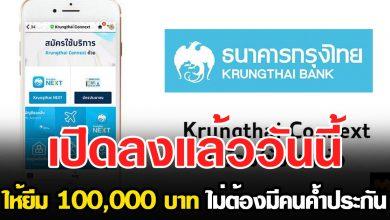 Photo of สินเชื่อไม่ต้องค้ำ ธ.กรุงไทยให้เลย 100,000 บาท ใน 5 นาที