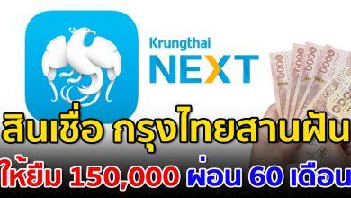 Photo of กรุงไทยเปิดให้สมัคร สินเชื่ออเนกประสงค์ ผ่อนนาน 60 เดือน