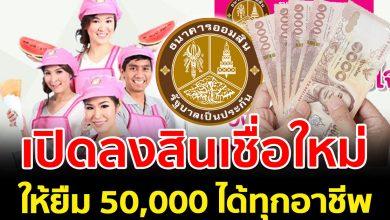 Photo of สินเชื่อ ออมสิน ประชาชนสุขใจ ให้กู้ยืมไปลงทุน 200,000 บา ท