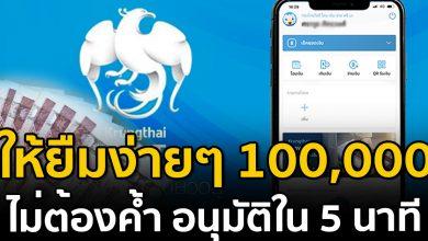 Photo of กรุงไทยให้ยืมง่ายๆ 100,000 อนุมัติภายใน 5 นาที ไม่ต้องค้ำ