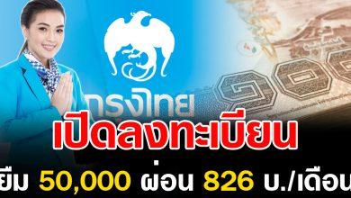 Photo of สินเชื่อกรุงไทยสมาร์ทมันนี่ ให้กู้ 50,000 ผ่อนเพียง 826 บ./เดือน