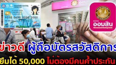 Photo of เผยสินเชื่อ ผู้มีบัตรสวัสดีการ กู้ 50,000 ไ ม่ต้องค้ำ