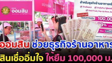 Photo of สินเชื่ออิ่มใจ ออมสิน ให้กู้ 100,000 ปลอดชำระเงินงวด 6 เดือน