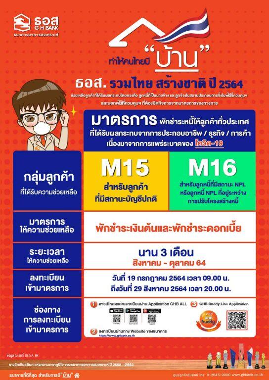 ธอส พักชำระหนี้ ธอส กับโครงการ ธอส. รวมไทย สร้างชาติปี 2564
