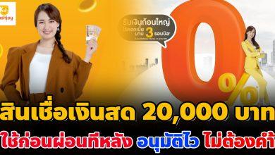 Photo of เปิดลงทะเบียนแล้ว สินเชื่อเงินสด JAYMART 20,000 บาท