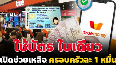 Photo of TrueMoney ช่วยเหลือ 10,000 ใช้บัตรประชาชนใบเดียว อนุมัติทันที