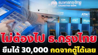Photo of กรุงไทยให้ยืม 10,000 บาท ผ่านตู้ ATM ผ่านง่าย ไม่ยุ่งยาก