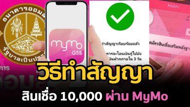 Photo of วิธีทำสัญญา 10,000 บ. ผ่านแอป MyMo