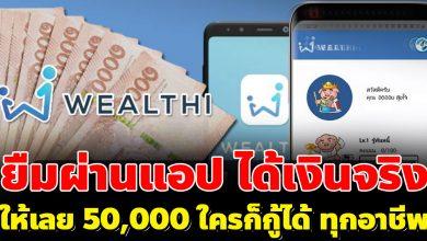 Photo of ยืมเงินออนไลน์ 50,000 บาท สมัครได้ทุกอาชีพ